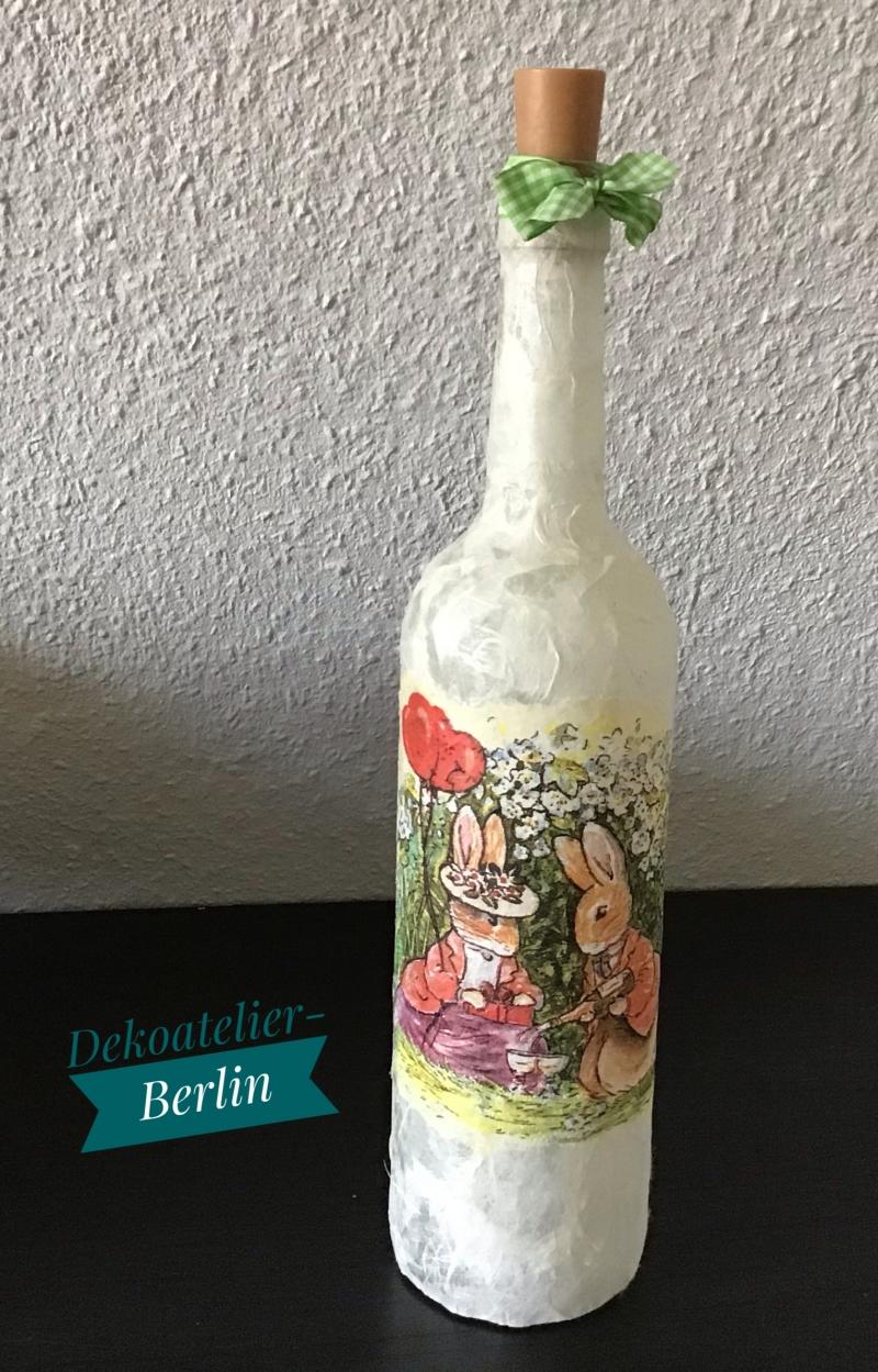 Kleinesbild -  ♥ Leuchtflasche ♥ Ostern ♥ Geschenk ♥️ upcycling ♥ Unikat - Oster Päarchen
