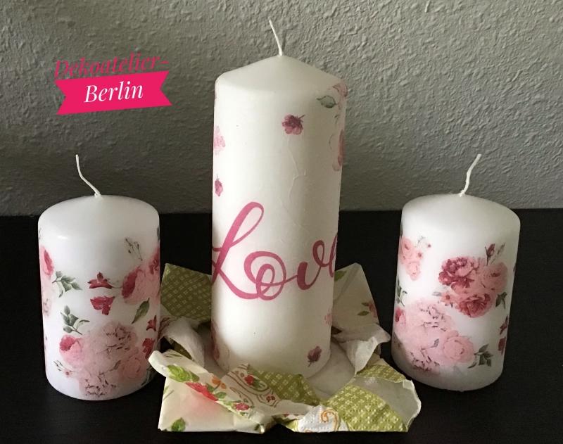 Kleinesbild - Kerze  groß ♥ Einzigartig♥ Geschenk ♥ upcycling ♥ Unikat  - Love