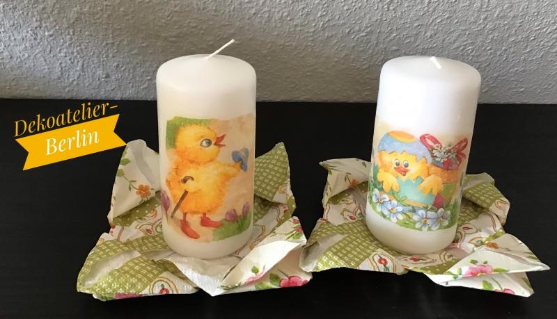 Kleinesbild - Kerzen 3 er Set  ♥ Einzigartig♥ Ostern ♥Geschenk  ♥ Unikat  - OsterKüken