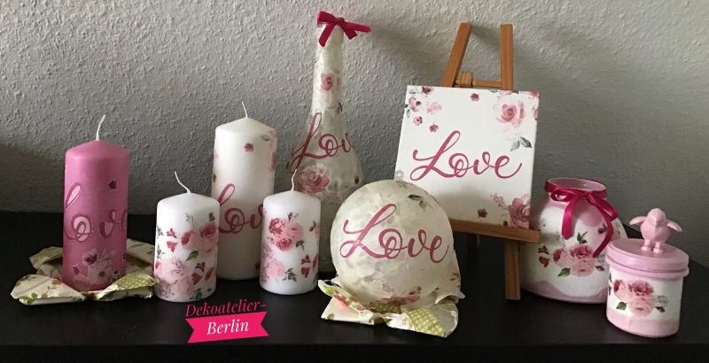 Kleinesbild -  2er Set Teelichtglas ♥ Herzen ♥️ Geschenk ♥️ upcycling ♥ Unikat - Love