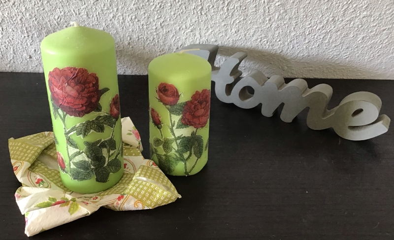 - Kerzen grün 2er Set ♥ Einzigartig♥ Geschenk ♥ upcycling ♥ Unikat  - Rosen - Kerzen grün 2er Set ♥ Einzigartig♥ Geschenk ♥ upcycling ♥ Unikat  - Rosen