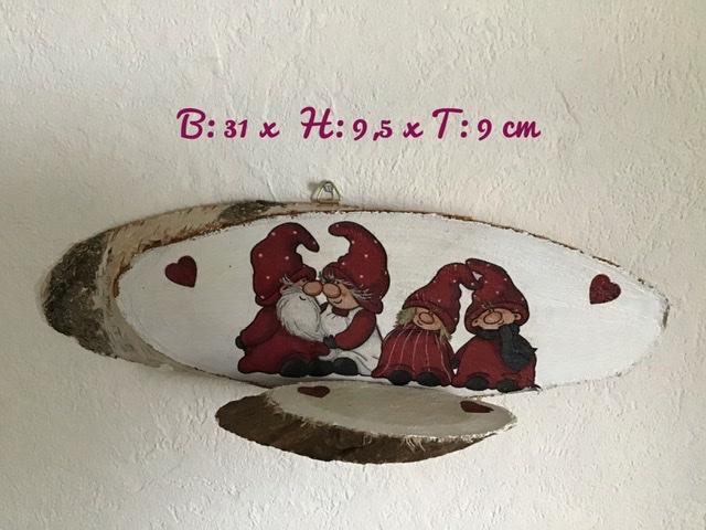Kleinesbild - Teelichthalter ♥️ Holz ♥️ Wandhalter ♥️ Inkl Teelichtglas -  Wichtel