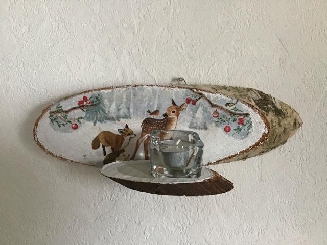 - Teelichthalter ♥️ Holz ♥️ Wandhalter ♥️ Inkl Teelichtglas -  Waldtiere / Reh - Teelichthalter ♥️ Holz ♥️ Wandhalter ♥️ Inkl Teelichtglas -  Waldtiere / Reh