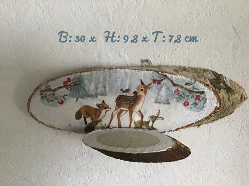 Kleinesbild - Teelichthalter ♥️ Holz ♥️ Wandhalter ♥️ Inkl Teelichtglas -  Waldtiere / Reh