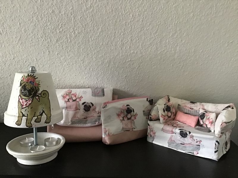 Kleinesbild - Kulturtasche  ❤️ Kosmetiktasche ❤️ Schminktasche ❤️ Geschenk  ❤️ Unikat -  Möpse