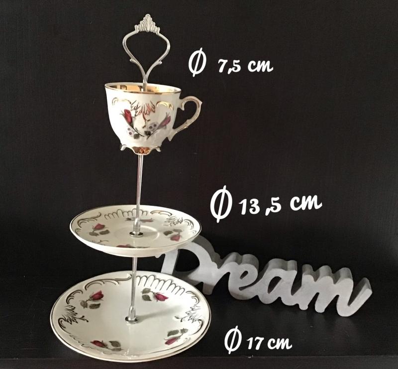 - Etagere ♥ Porzellan  ♥️ Oma ´s Geschirr ♥ Vintage ♥ Unikate - Röschen - Etagere ♥ Porzellan  ♥️ Oma ´s Geschirr ♥ Vintage ♥ Unikate - Röschen