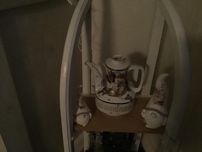Kleinesbild - Beleuchtete Kaffeekanne  ♥ Einzigartig♥ Geschenk ♥ Vintage ♥ Unikat  - Katzen