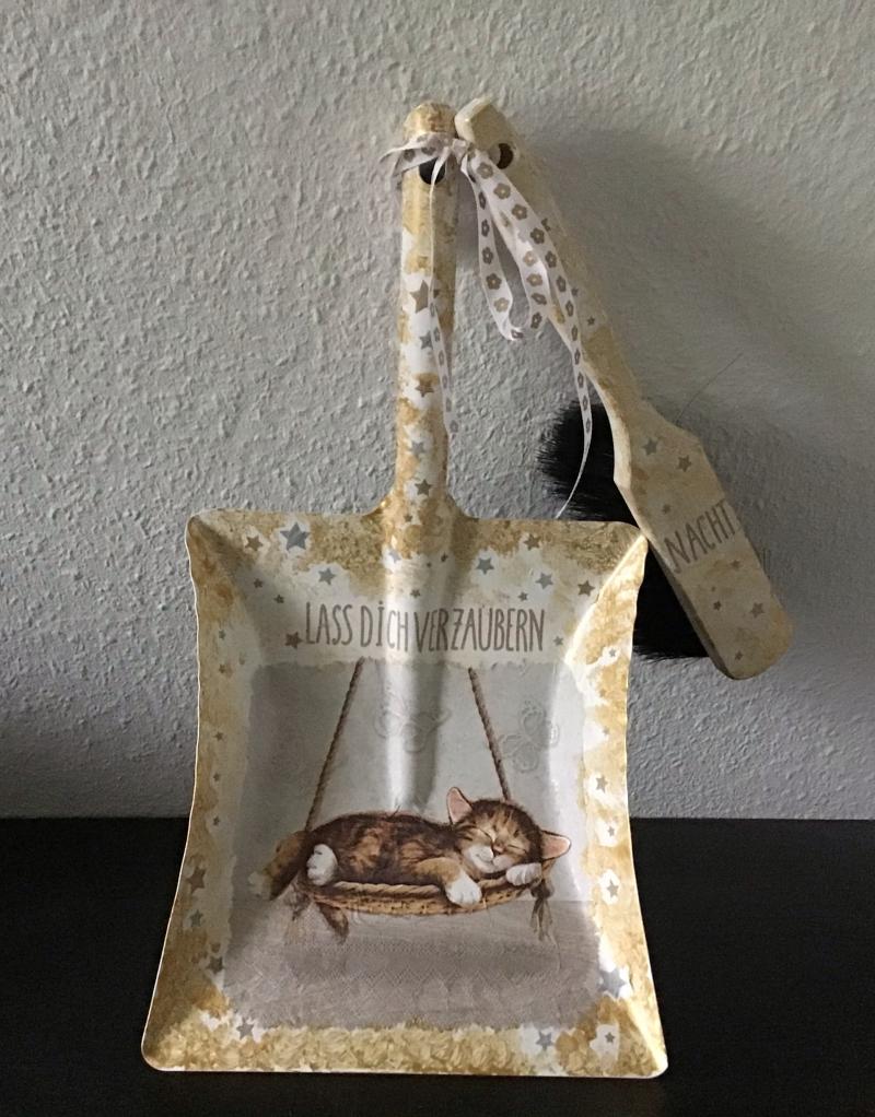 - Kehrbesen Set ♥ handmade ♥️ einzigartiges Geschenk ♥️ Unikat - schlafende Katze - Kehrbesen Set ♥ handmade ♥️ einzigartiges Geschenk ♥️ Unikat - schlafende Katze