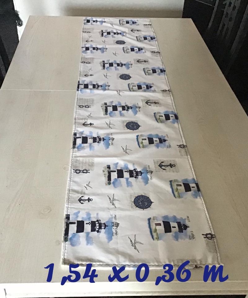 - Läufer  ❤️  Tischläufer ❤️ Tischdecke ❤️ Geschenk ❤️ Deko ❤️  Unikat - Maritim Leuchtturm - Läufer  ❤️  Tischläufer ❤️ Tischdecke ❤️ Geschenk ❤️ Deko ❤️  Unikat - Maritim Leuchtturm