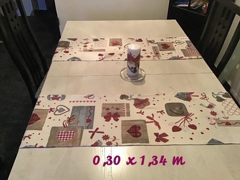 - Läufer  ❤️ 2er Set ❤️ Tischdecke ❤️ Geschenk ❤️ Deko ❤️  Unikat - Landhausstil rot - Läufer  ❤️ 2er Set ❤️ Tischdecke ❤️ Geschenk ❤️ Deko ❤️  Unikat - Landhausstil rot