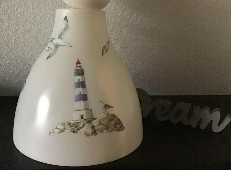 Kleinesbild - Badlampe ♥ Deckenlampe ♥️ Einzigartig ♥️ Geschenk ♥ Vintage ♥ Unikat - Maritim