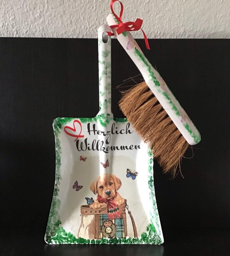 - Kehrbesen Set ♥ handmade ♥️ einzigartiges Geschenk ♥️ Unikat - Hundewelpe - Kehrbesen Set ♥ handmade ♥️ einzigartiges Geschenk ♥️ Unikat - Hundewelpe