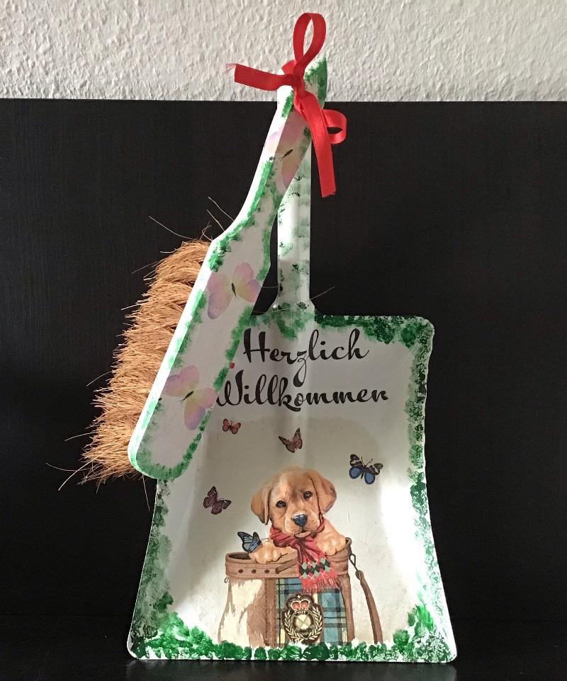 Kleinesbild - Kehrbesen Set ♥ handmade ♥️ einzigartiges Geschenk ♥️ Unikat - Hundewelpe