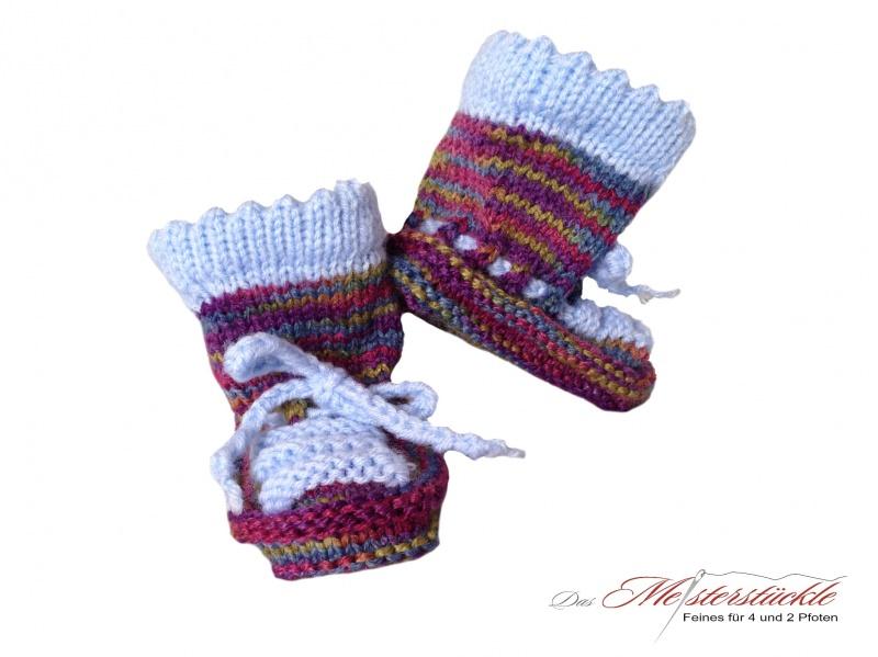 - handgestrickte Babyschuhe Babysocken Coole Treter für kleine Füße - handgestrickte Babyschuhe Babysocken Coole Treter für kleine Füße