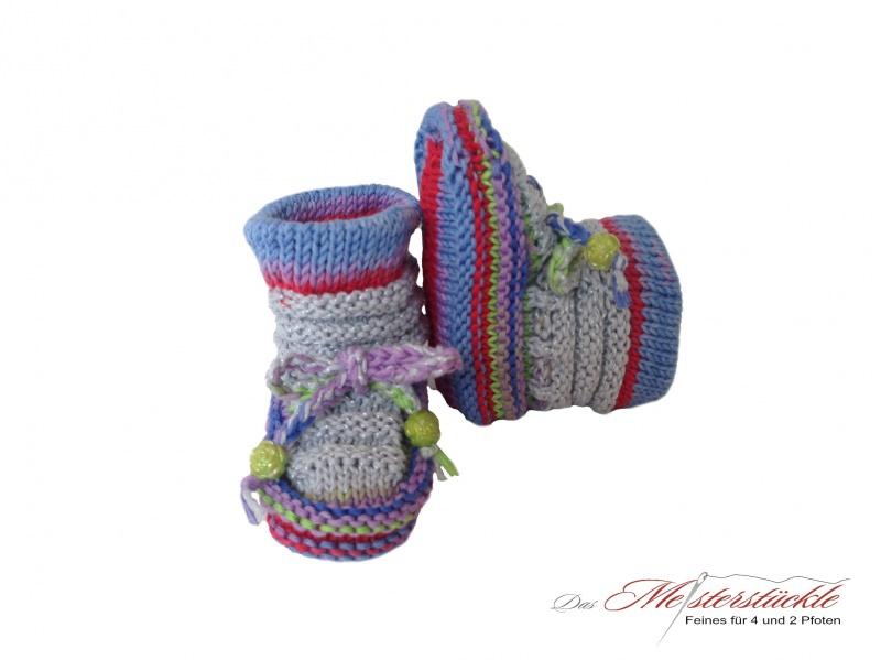 - Baby Boots - Babyschuhe handgestrickt My first socks - Baby Boots - Babyschuhe handgestrickt My first socks