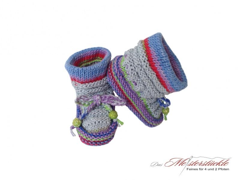 Kleinesbild - Baby Boots - Babyschuhe handgestrickt My first socks