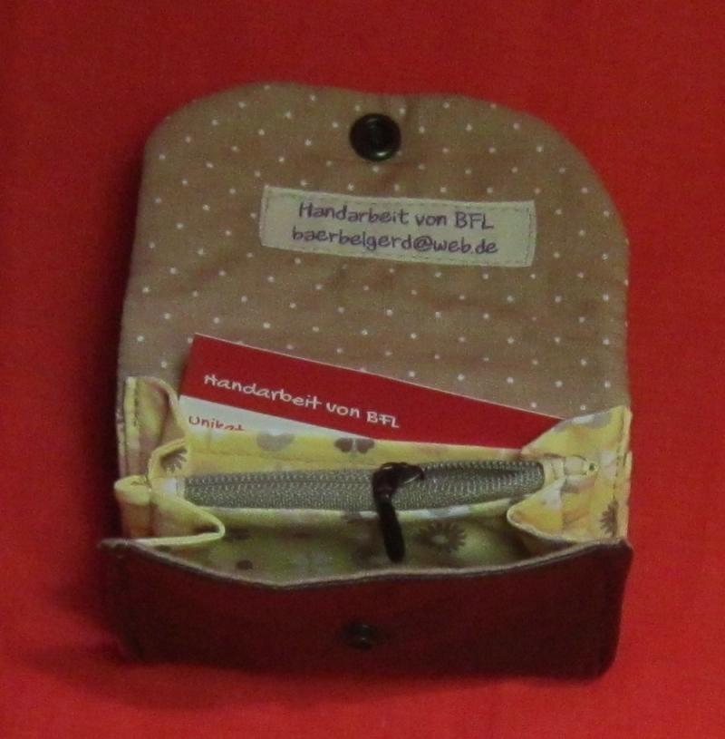 Kleinesbild - Geldbeutel aus Nappaleder, 3 Varianten, echtes Leder, Hosentaschen Geldbeutel mit Reißverschlussfach und Kartenfach, Geldbörse, Handarbeit