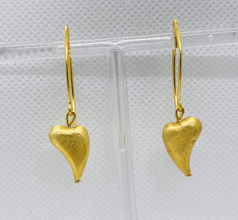 Kleinesbild - Hängeohrringe goldene Herzen