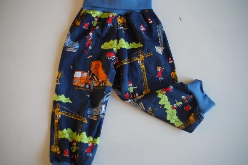 Kleinesbild - Pumphose für Baby und Kind  Baustelle Gr. 56 bis 128