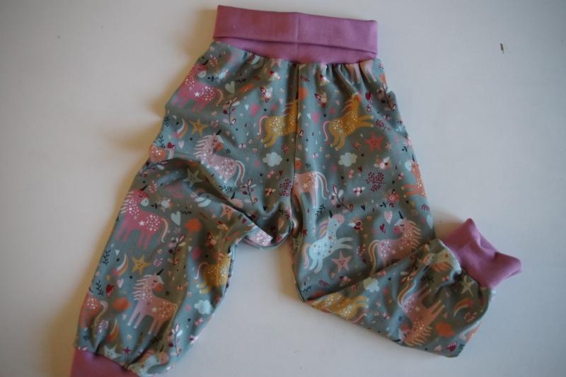 Kleinesbild - Pumphose für Baby und Kind  Einhorn Gr. 56 bis 128  (Kopie id: 100256029) (Kopie id: 100256031)