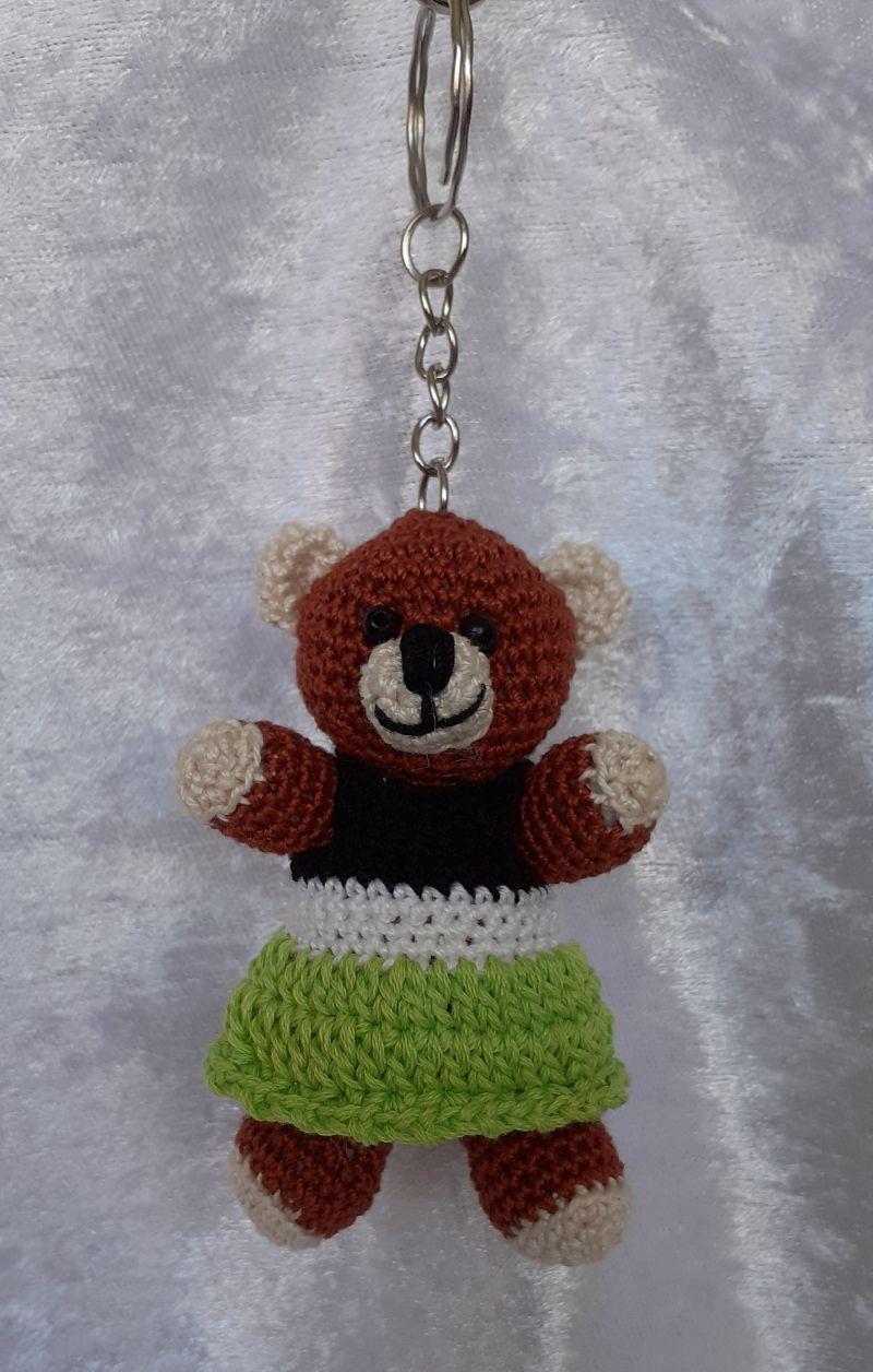 - Gehäkelter Bär als Schlüsselanhänger oder Taschenbaumler - Gehäkelter Bär als Schlüsselanhänger oder Taschenbaumler