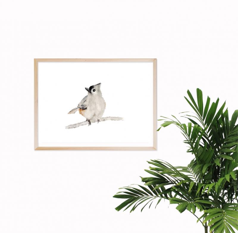 - Fine Art Print vom Originalen Aquarell Vogel - Fine Art Print vom Originalen Aquarell Vogel