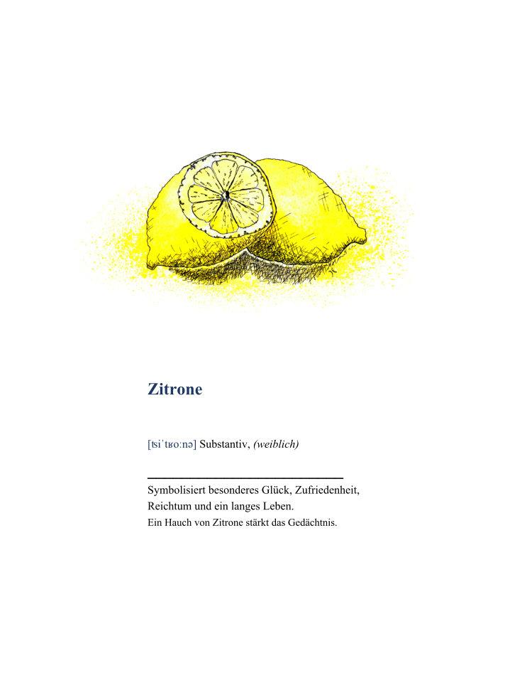 Kleinesbild - Wanddekoration Poster Zitrone mit Definition, hochwertiger Kunstdruck A4