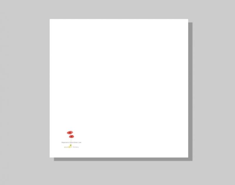 Kleinesbild - Naschkatze, aquarellierte Kunstpostkarte mit Glanzlack und Umschlag in rot, 14,8x14,8cm