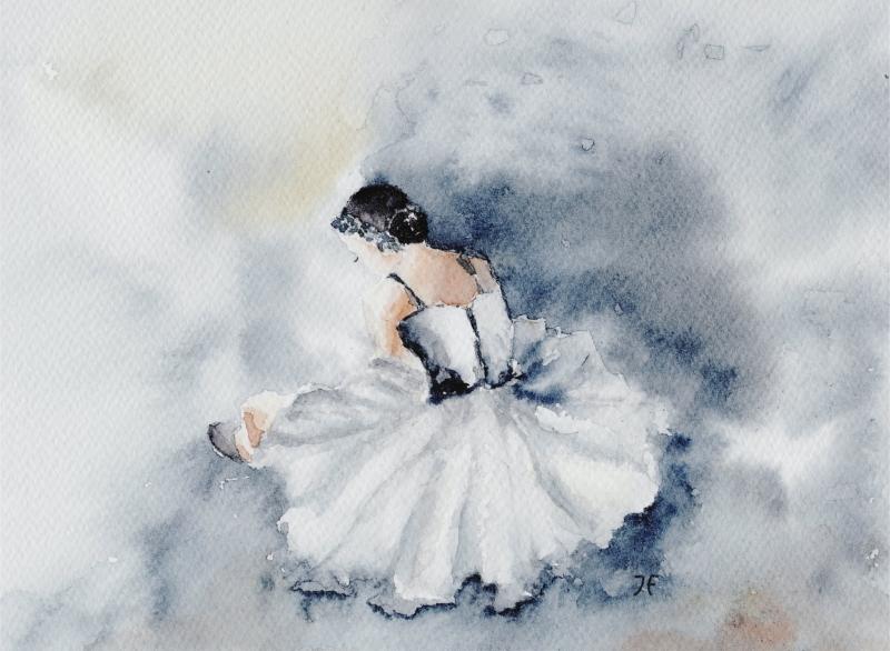Kleinesbild - Fine Art Print vom Original-Aquarell Ballerina, in verschiedenen Größen erhältlich