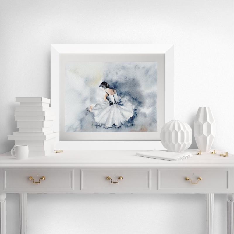- Fine Art Print vom Original-Aquarell Ballerina, in verschiedenen Größen erhältlich - Fine Art Print vom Original-Aquarell Ballerina, in verschiedenen Größen erhältlich