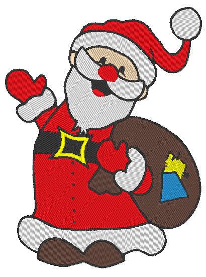 - Stickdatei Nikolaus/Weihnachtsmann 2 - Stickdatei Nikolaus/Weihnachtsmann 2