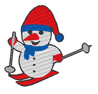 - Stickdatei Schneemann auf Ski - Stickdatei Schneemann auf Ski