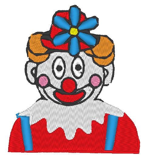 - Stickdatei Clown mit Blume am Hut zu Karneval 76 x 86 mm - Stickdatei Clown mit Blume am Hut zu Karneval 76 x 86 mm