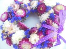 Kleinesbild - Strohblumenkränzchen, 20cm