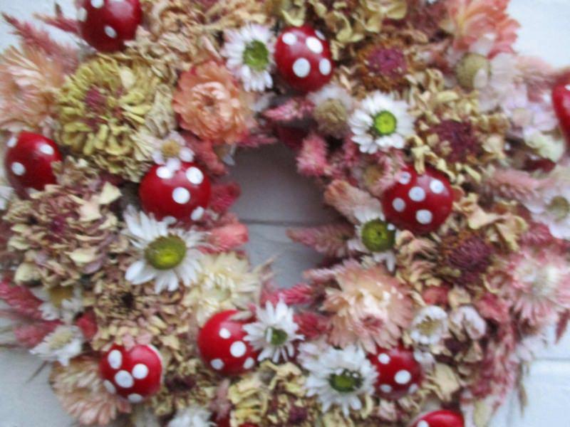 Kleinesbild - Naturkranz  mit kleinen Pilzen, 25cm