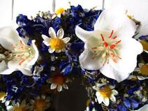 Kleinesbild - Naturkränzchen mit Kamilleblüten, 18cm