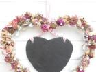 Kleinesbild - Wanddeko mit Schiefer-Herz