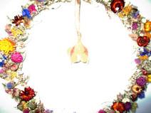 Kleinesbild - Wanddeko mit Primelglöckchen, 30cm