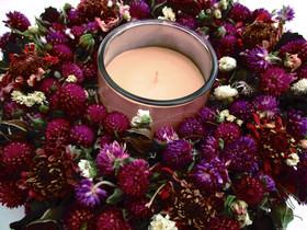 - Rosenkranz mit Amaranth Blumen, 22cm - Rosenkranz mit Amaranth Blumen, 22cm