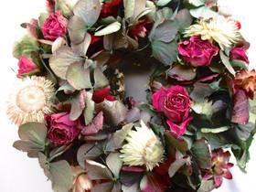 Kleinesbild - Hortensien Kränzchen in zarten Farben, 17cm