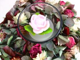 - Hortensien Kränzchen in zarten Farben, 17cm - Hortensien Kränzchen in zarten Farben, 17cm