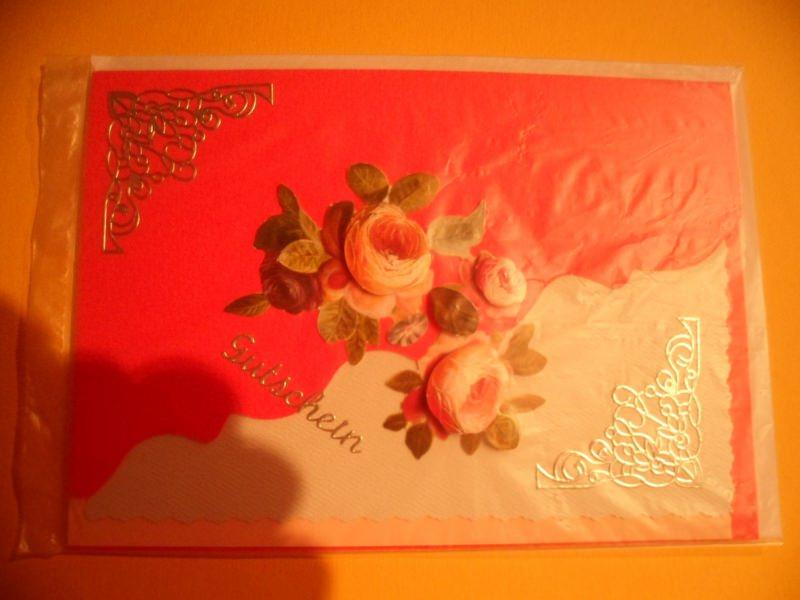 Kleinesbild -  Mit dieser Gutschein Karte kann man viele Probleme lösen. Es muss nicht immer ein Geschenk sein. Bis 6 Karten Portogebühren 1,45€