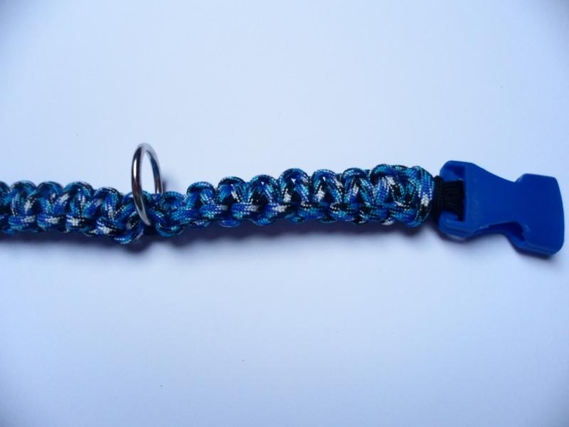 Kleinesbild - Handgeflochtenes Hundehalsband mit Cobra-Knoten 41 cm lang und 2 cm breit aus Paracord Seilen