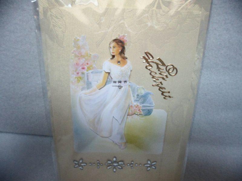 - Eine anspruchsvolle 3D Karte zur Hochzeit. Eine Braut  dekoriert mit  Acrylsteinchen und Sticker. Bis 6 Karten Portogebühren 1,45€  - Eine anspruchsvolle 3D Karte zur Hochzeit. Eine Braut  dekoriert mit  Acrylsteinchen und Sticker. Bis 6 Karten Portogebühren 1,45€