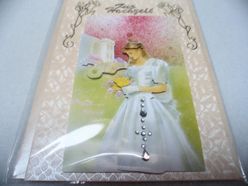 - Eine anspruchsvolle 3D Karte zur Hochzeit. Eine Brautkarte dekoriert mit  Acrylsteinchen und Sticker.  Bis 6 Karten Portogebühren 1,45€ - Eine anspruchsvolle 3D Karte zur Hochzeit. Eine Brautkarte dekoriert mit  Acrylsteinchen und Sticker.  Bis 6 Karten Portogebühren 1,45€