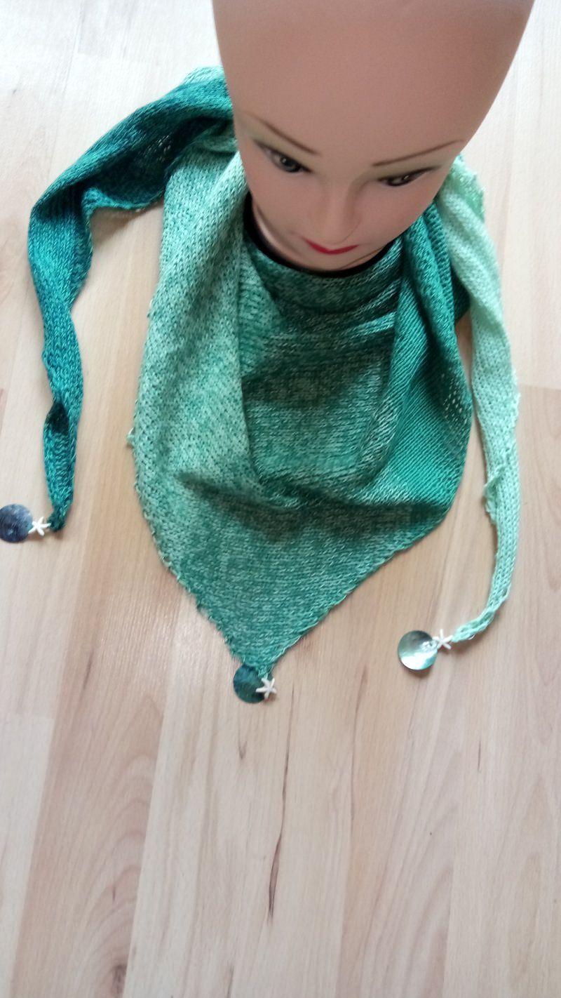 - Sommerliche Dreieckstücher aus Baumwolle mit Verlaufsfarben - Sommerliche Dreieckstücher aus Baumwolle mit Verlaufsfarben