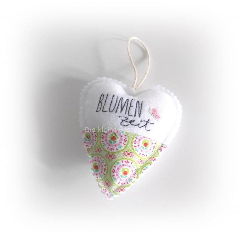 - Stoffanhänger Herz, Herz zum aufhängen, Dekoration, Blumen Zeit - Stoffanhänger Herz, Herz zum aufhängen, Dekoration, Blumen Zeit