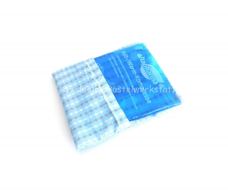 Kleinesbild - Wärmekissen, Beulentröster, Kühlpadhülle hellblau, grau, weiß