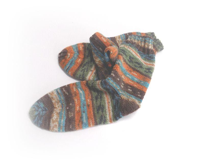 Kleinesbild - Socken Gr. 38, Socken gestrickt, Socken mit Bummerangferse