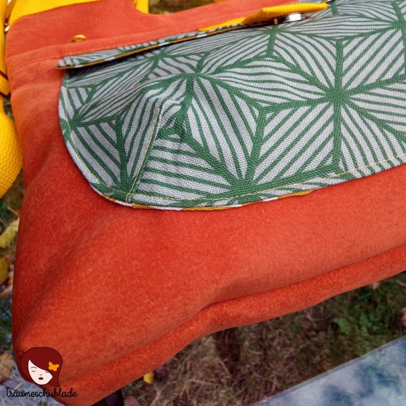 Kleinesbild - Tasche Yve Handtasche Schultertasche Umhängetasche Kleiner Shopper Orange Gelb Grün